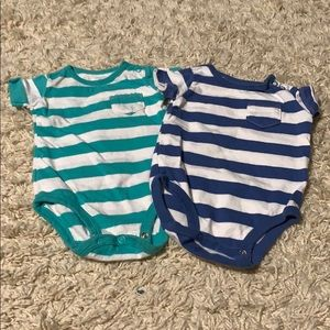 🌈4/$25🌈 Carter's Striped Onesies, Set of 2